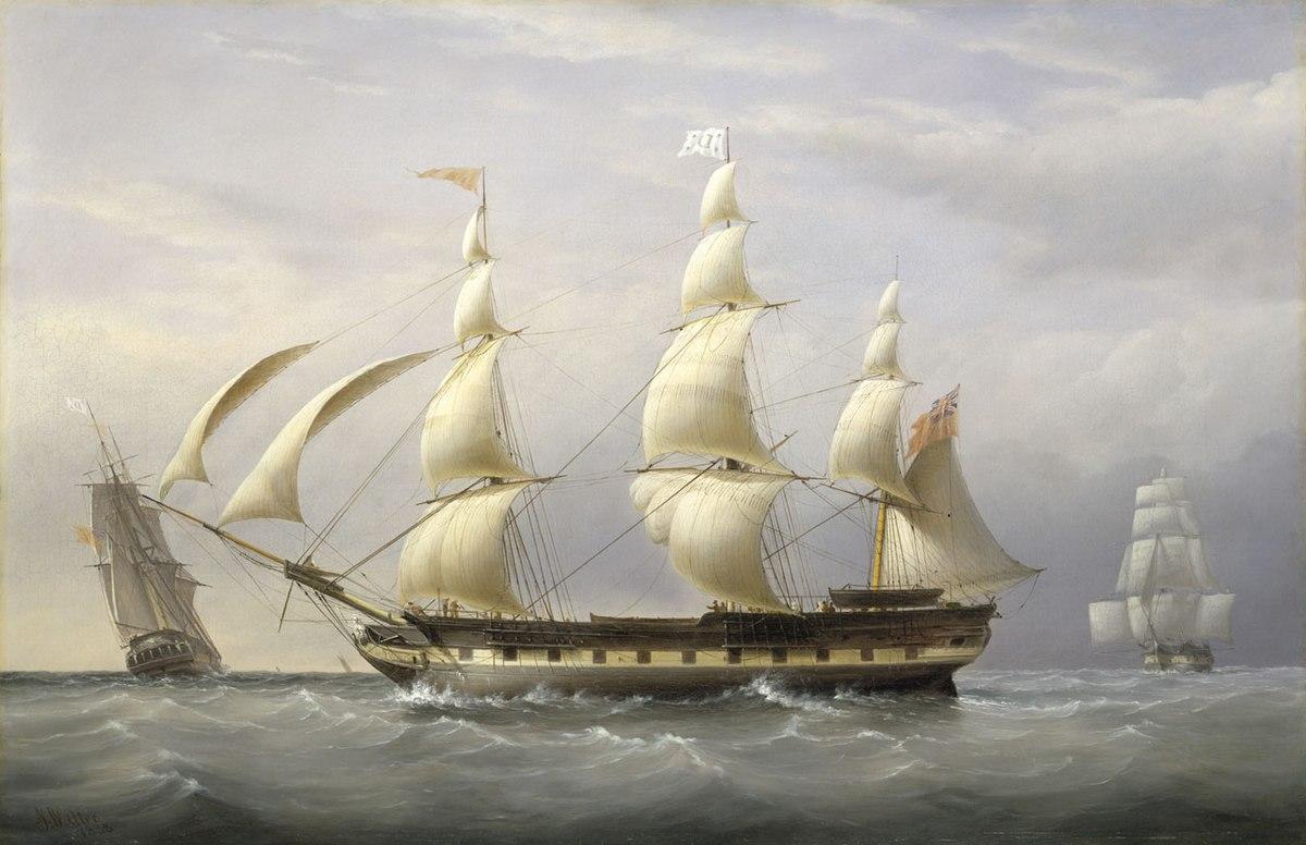 Palanquée de navires 1200px-Joseph_Walter_-_The_West_Indiaman_%22Britannia%22