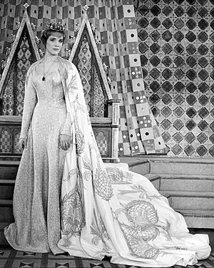 Camelot (musical) - Julie Andrews as Queen Guinevere in original 1960 Broadway production