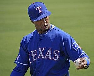 Julio Borbón - Borbón with the Texas Rangers