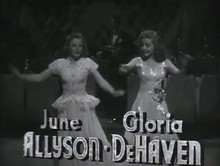 June Allyson et Gloria DeHaven