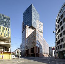 the northern part of the district is full of modern architecture and governmental buildings like the imposing justizzentrum - Modern Architecture Vienna