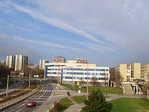 Karlova Ves - Post office and hospital in Karlova Ves