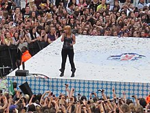 Kelly Clarkson performing at Capital Fm Summertime Ball, London, in 2012