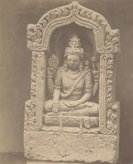 KITLV 87725 - Isidore van Kinsbergen - Sculpture of Shiva from the Dijeng plateau - Before 1900.tif