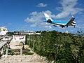 KLM Airplane Landing Passing Over Maho Bay Beach 4 (6543929955).jpg