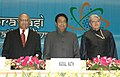 Kamal Nath, the Governor of West Bengal Shri. Gopalakrishna Gandhi and Shri, C K Prahalad, Professor of Business Administration, University of Michigan Business School.jpg