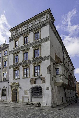 Warsaw Old Town - Masovian Dukes tenement, built 1466.
