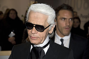 Karl Lagerfeld, German-born fashion designer a...