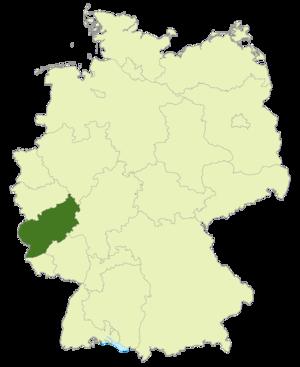 Rheinlandliga - Image: Karte DFB Regionalverbände RL