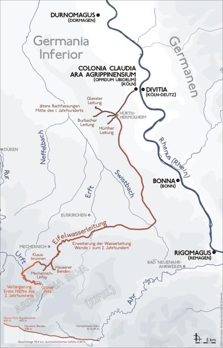Verlauf der Eifelwasserleitung