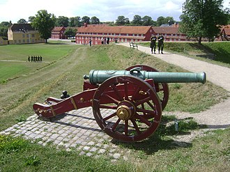 Gun carriage - A Danish cannon on a typical 18th century field carriage.