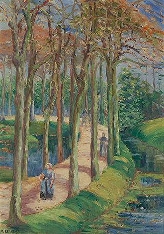 Katherine Sophie Dreier - Image: Katherine Sophie Dreier Landscape with figures in woods ca. 1911 or 1912