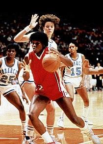 Katrina McClain in 1985 Final Four.jpg