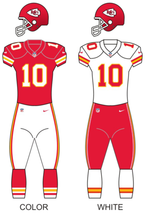 2015 Kansas City Chiefs season - Image: Kc chiefs uniforms