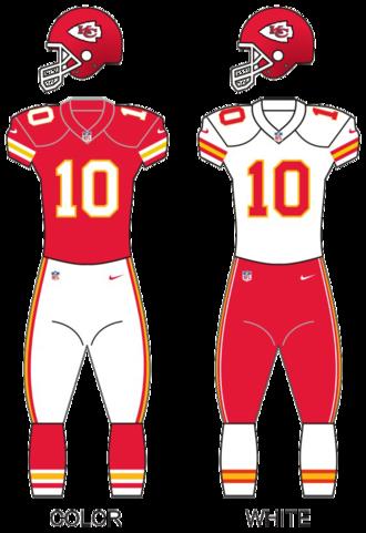 2015 Kansas City Chiefs season - Image: Kc chiefs uniforms