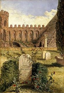 William Bell Scott, Keats's Grave (1873), olio su tela, Ashmolean Museum
