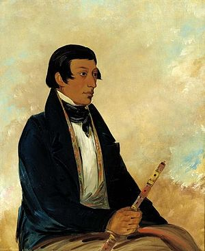 Miami people - Image: Kee món saw, Little Chief, a Chief (George Catlin)