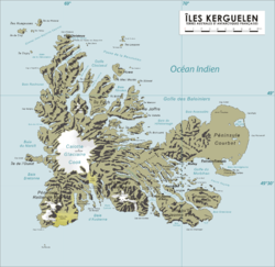 Map of the Kerguelen Islands