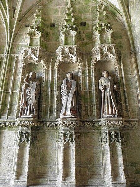 Jacques le Majeur, Barthélémy et Jude. Trois apôtres du porche des femmes de la chapelle Notre-Dame de Kernascléden (56).