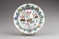 Kinesisk porslins tallrik från 1735-1795 - Hallwylska museet - 95824.tif