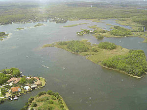 Crystal River, Florida - Kings Bay is fed by a springs system; it is connected to the Gulf of Mexico by the Crystal River.