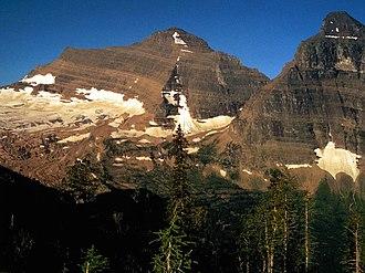 Belt Supergroup - Belt Supergroup strata exposed on Kintla Peak in Glacier National Park.