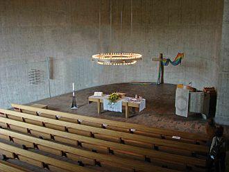 Urtenen-Schönbühl - Interior of the parish church, built in 1965-68