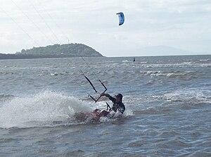 Kitesurfing at Port Douglas, Australia