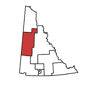 Klondike (electoral district) - Klondike in relation to other electoral districts in the Yukon