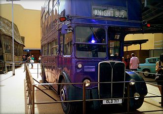 Warner Bros. Studios, Leavesden - The triple-decker Knight Bus used in the Harry Potter film series