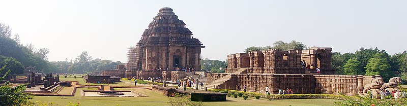 Konark , Odisha: full view of Sun temple