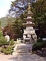 Korea-Danyang-Guinsa Three Story Stone Pagoda 2954-07.JPG