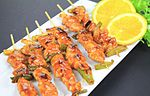 Korean spicy chicken skewers (6325410086).jpg