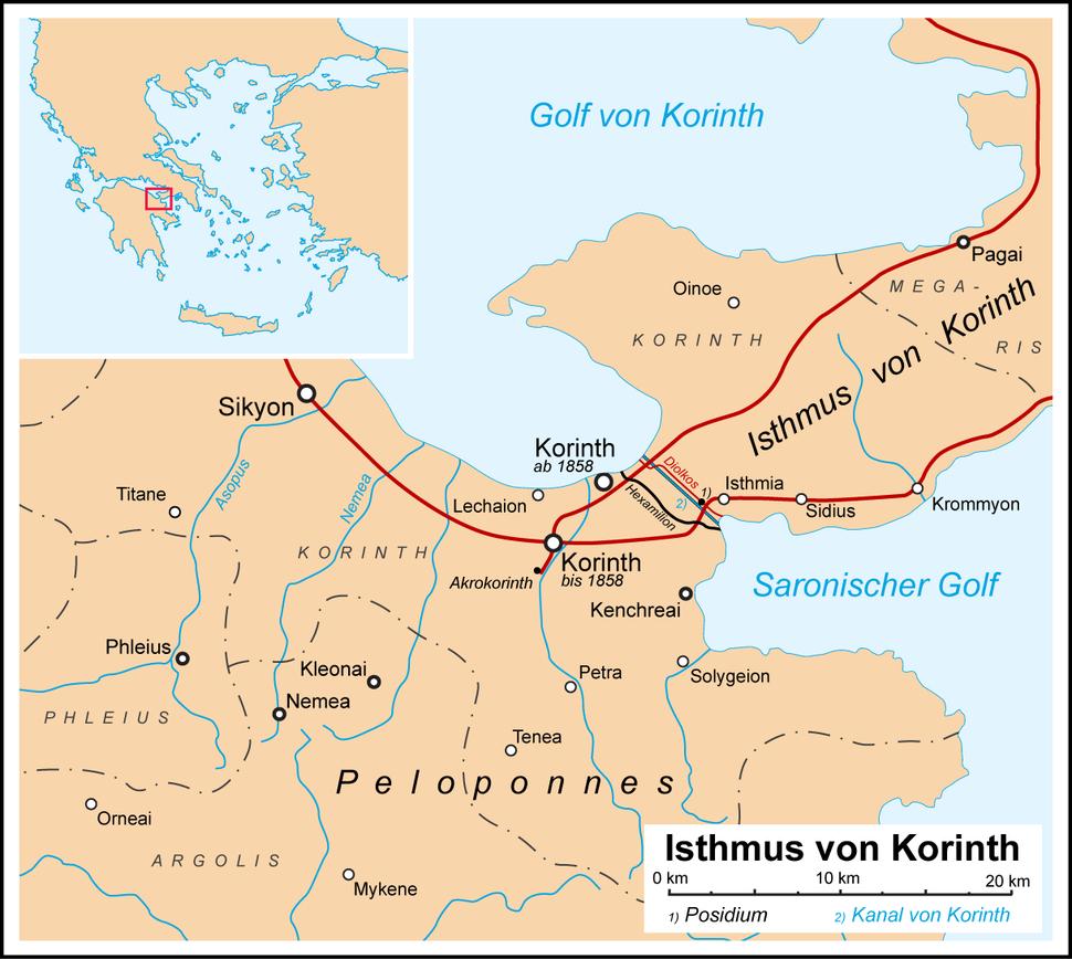 Korinth Isthmus de