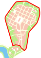 Krakow Center - first beltway.svg