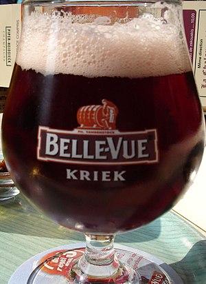 Lambic - Kriek, a variety of beer brewed with cherries