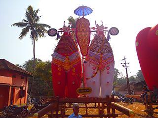 Kudassanad village in Kerala, India
