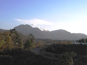 English: Kuju Mountains from north, Kyushu, Japan.