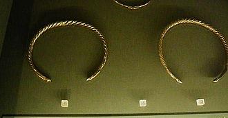 Dacian bracelets -  Dacian silver ornaments (Kunsthistorisches Museum)