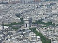 L'arc de triomphe, vu du troisième étage (Paris).jpg