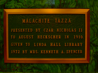 Plaque on The Tazza LHLTazzaPlaque.PNG