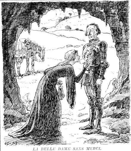 enchantment in john keats la belle dame John keats's la belle dame sans merci is a romantic ballad that tells of the misfortune of a knight who falls in love with a maiden who is without mercy--sans merci much like some ancient.