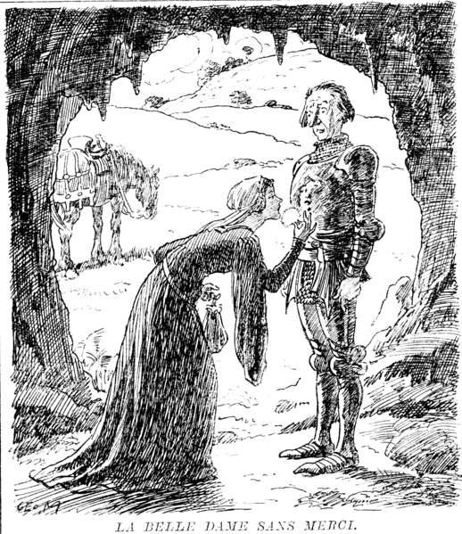 File:La Belle Dame sans Merci - Punch cartoon - Project Gutenberg eText 19105.png