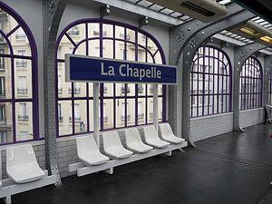 La Chapelle (Paris Métro) - Image: La Chapelle station