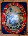 La Meuse - Bière Extra - Fine , enamel advertising sign at the Musée Européen de la Bière.JPG