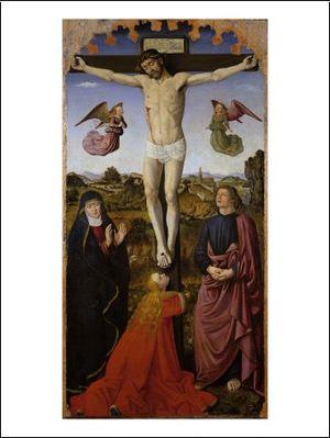 Français : estampe, christ sur croix