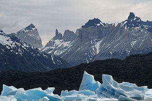 Torres del Paine, Chile - Image: Lago Grey,Chile o