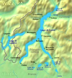 מפה של אזור אגם קומו