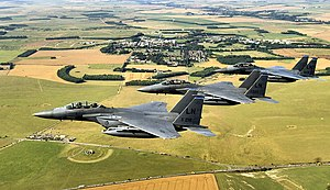 48th Operations Group - 48th OG F-15 Eagles over Stonehenge, Wiltshire