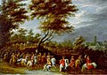 Lambert de Hondt the Younger - Der feierliche Einzug eines Fürsten - Oil on canvas laid on canvas.jpg
